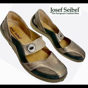 JOSEF SEIBEL 'Jody' Mary Jane Slip On Flats~Bronze